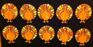 10 Turkeys Flannelboard