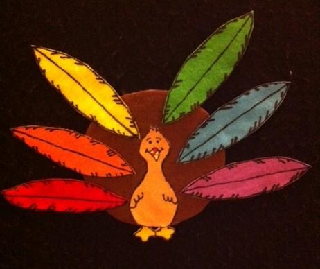 Turkey Feathers Flannelboard