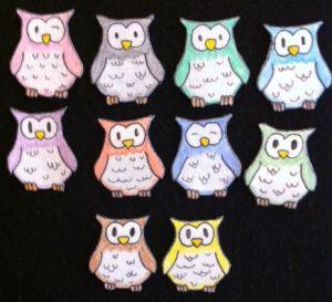 10 Owls Flannelboard