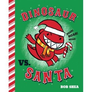 Dinosaur vs Santa by Shea
