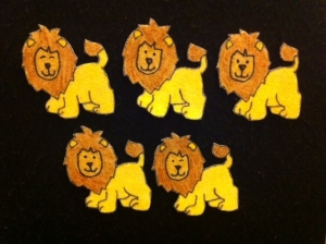 Lions Counting Rhymes Flannelboard