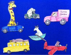 I Saw A Giraffe Drive By Flannelboard