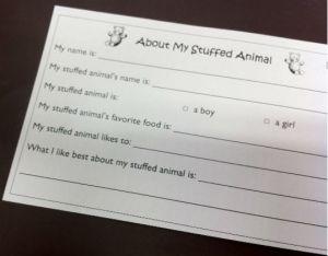 Stuffed Animal Sleepover 2013 Survey