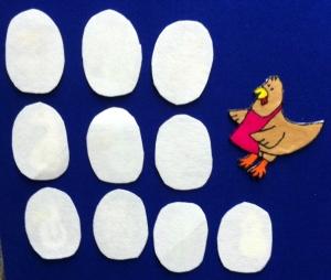 10 Eggs Flannelboard 1
