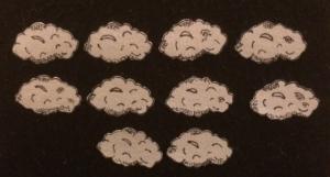 10 Rainclouds Flannelboard