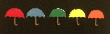 Color Umbrellas Flannelboard