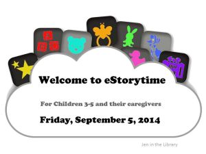 Welcome to eStorytime Slide