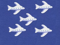 Five Little Airplanes felt board 1