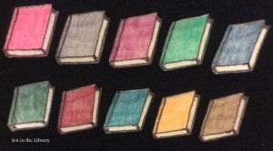 10 Books Flannelboard cropped name