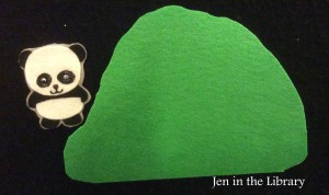 Panda Went Over the Mountain Flannelboard name