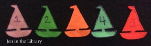 5 Little Sailboats - flannelboard name