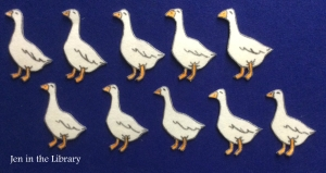 10 Geese Flannelboard name