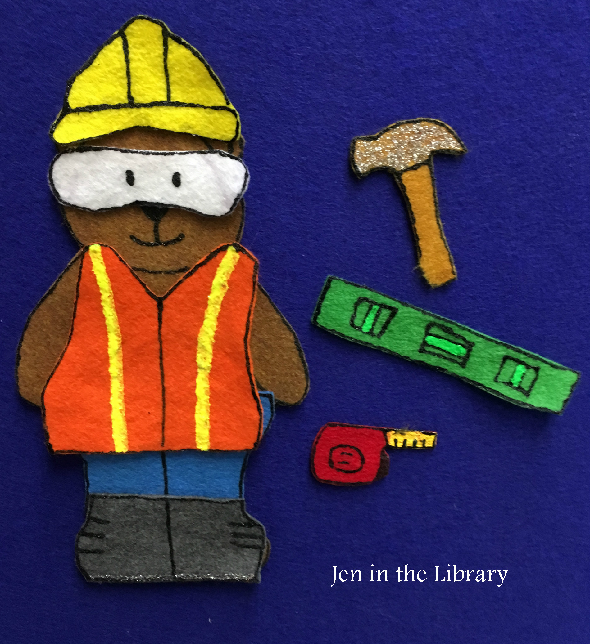 Construction Bear Flannel 2 Jeninthelibrary